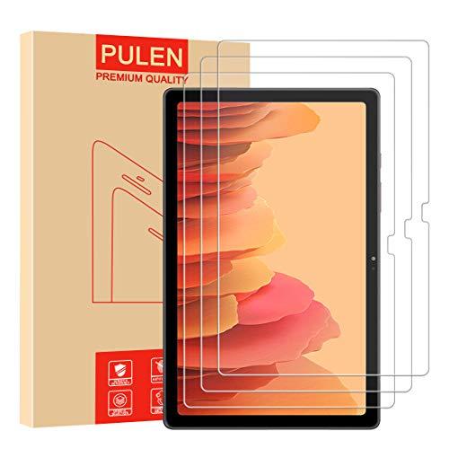 [3 Unidades] PULEN Protector de pantalla para Samsung Galaxy Tab A7(10.4 inch) [Sin burbujas] [Anti-huella digital] [Anti- Arañazos] [HD] Cristal Templado Vidrio Templado