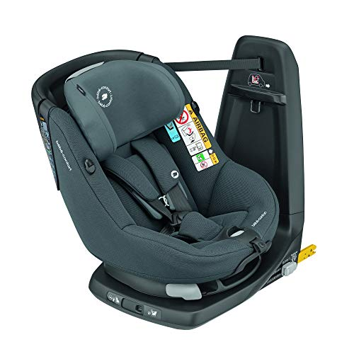 Bebe Confort Axissfix Plus - Silla de coche Isofix 0-18 kg, giratoria 360°, reclinable, homologada I-Size, para niños de 0 a 4 años sillita para coche Authentic Graphite