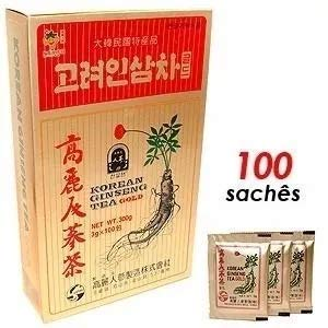 Korean Ginseng Tea Gold Chá Coreano 100 Unid -pronta Entrega