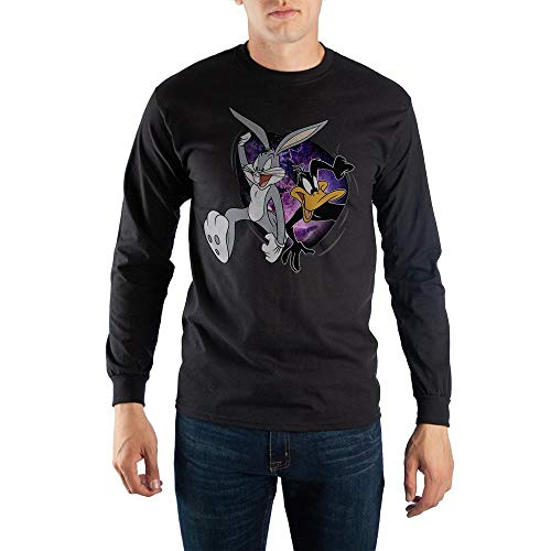 Black Looney Tunes Space Jam Long Sleeve T-Shirt-3XL