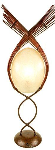 Guru-Shop Vloerlamp/vloerlamp, Exotische Lamp van Natuurlijk Materiaal - Kokopelli Pabo Lamp, 85x30x20 cm, Staande Lampen van Natuurlijke Materialen