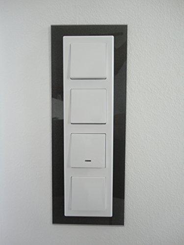 Schalterblenden, Abdeck Dekor Rahmen, passend für alle vorh. Schalter (4er Blende, anthr.)