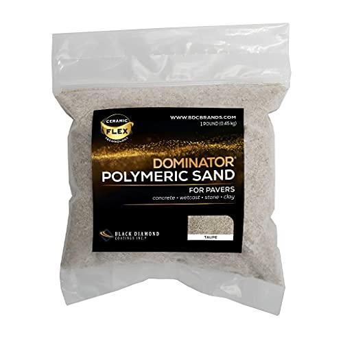 """1 Pound SAMPLE, Taupe Joint Stabilizing for Pavers, DOMINATOR Polymeric Sand with Revolutionary Ceramic Flex Technology for Joints up to 4"""", Haze-Free Professional Grade Results"""