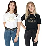 Sanfran Clothing Thrones Wedding is Coming Top Set Hen Do Bachelorette Party Gift Stark T-Shirt Negro Negro 42
