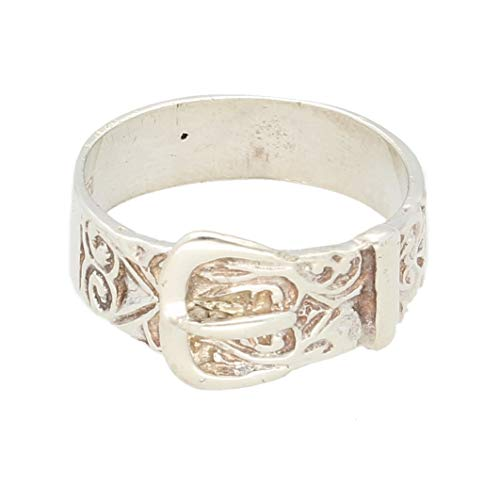Jollys Jewellers Men's Sterling Silver Buckle Ring (Size T 1/2) 11mm Widest