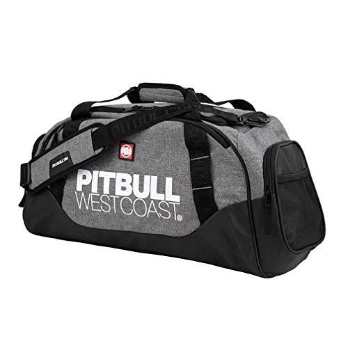 Pit Bull West Coast Sporttasche TNT Schwarz/Grau - Funktionelle Trainingstasche Gym Tasche für Kampfsport Fitness Boxen Muay Thai