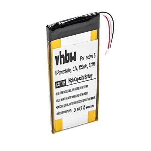 vhbw Li-Polymer Akku 1550mAh (3.7V) passend für GPS Navigation Navi Becker Active 6 LMU Plus, Active.6 CE LMU, Active.6 LMU, BE B40, BE B50