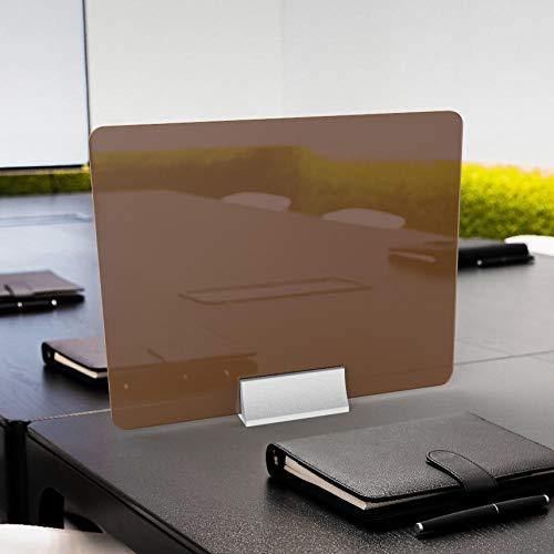 CYGJ - Pantalla de estornudo portátil, color marrón, 50 x 40 cm