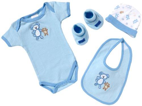 Playshoes Geschenk-Set - 4-teilig 521701 Baby - Jungen Babybekleidung/ Bekleidungssets, Gr. one size Blau (bleu 17)