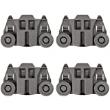 4 PACK W10195417 UPGRADED Dishwasher Wheels Lower Dish Rack Roller Wheel Assembly by AMI,Replaces W10195417VP...