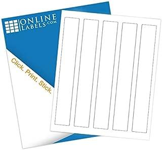 Water Bottle Wraparound Labels - 1.25 x 9.75 - Pack of 500 Labels, 100 Sheets - Inkjet/Laser Printer - Online Labels