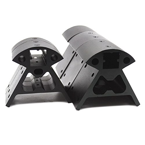 Kossel Reprap 3D printer parts 2020 Aluminum Alloy Corners profile high quality 3pcs bottom+3pcs top 1 set Black Vertex