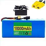 HLDUYIN Batterie au Lithium 48V 13S3P 18Ah Batterie 1000W Batterie Haute Puissance 48V 14000mAh Ebike Batterie de vélo électrique BMS Scooter électrique Batterie au Lithium