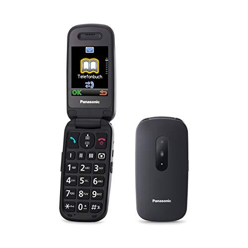 Panasonic KX-TU446EXB Telefono Cellulare Facilitato, Compatibile con Apparecchi Acustici, Ottimale per Anziani, Pulsanti Grandi Retroilluminati, Ampio Display, 600 Ore di Autonomia, Nero