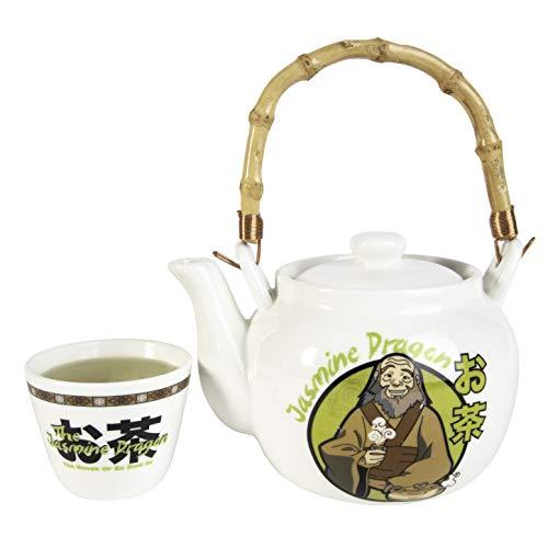 Avatar: The Last Airbender The Jasmine Dragon Tea Set - Ceramic Teapot & Tea Cup - Great Avatar Gift