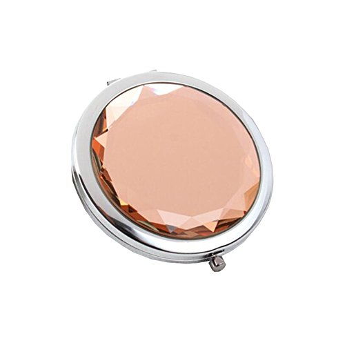 Maquillage Folding Portable Cosmetic Voyage Pocket Mirror Compact, Champagne