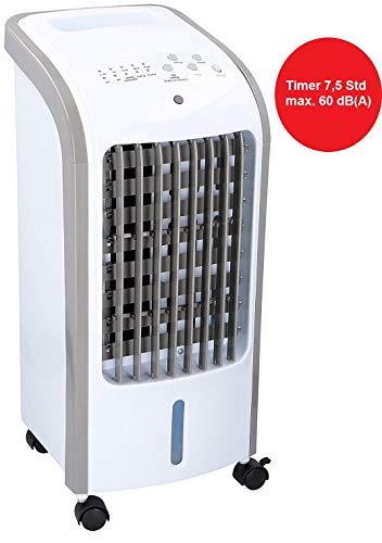 Interior OFB80 Ventilator mit Raumluftbefeuchter 80W, 2in1 Lüfter, Standventilator mit Luftfilter, Timer 7,5Std, Bodenventilator mit ruhigem Lauf,max.60 dBA,3 Stufen Luftkühler, oszillierend