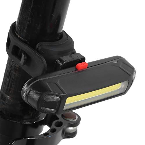 XINMYD Luz Trasera de Bicicleta de Dos Colores, Luz Trasera de Bicicleta de Dos Colores Luz de Advertencia de Carga USB Luz Trasera de Bicicleta de Carretera de montaña