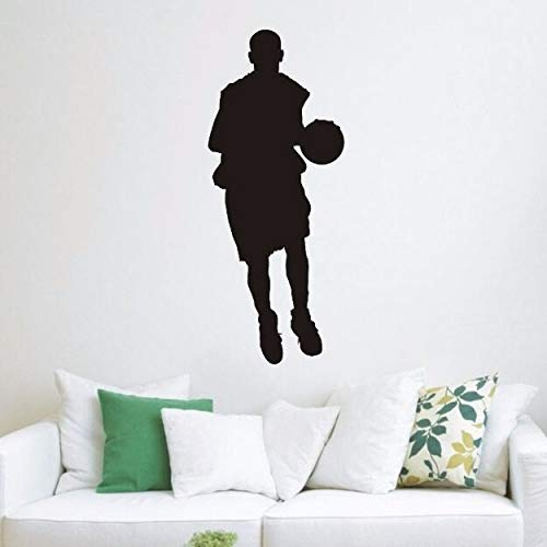 yaonuli Basketballspieler Sport Vinyl Wandtattoos Basketball Sport Wandaufkleber für Kinderzimmer Dekoration50X123cm