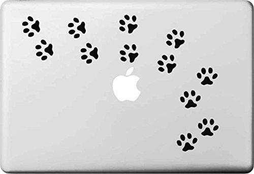 VATI Hojas desprendibles Perro Huellas del Vinilo de la Etiqueta engomada de la Piel de Arte Negro para Apple Macbook Pro Aire Mac de 13 Pulgadas 15' / 13 Unibody 15'Pulgadas portátil