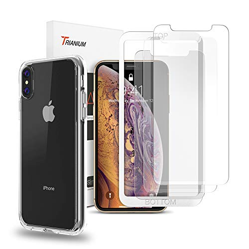 Trianium Case and 3 Pack Screen Protector for iPhone XS Max