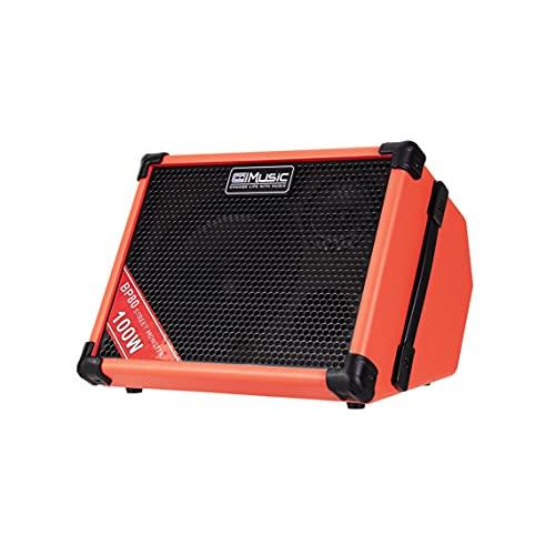 Coolmusic BP80 100 W Outdoor-Bluetooth-Lautsprecher mit Akku, Radio, Aux-Eingang, Mikrofon und USB-Ladeanschluss