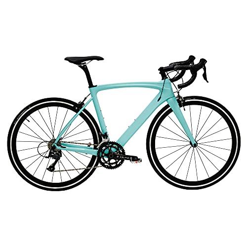 HeartsBio Carbon Road Bike Model H 18.7 lb – Custom Bike Club Logo Carbon Fiber Frame Road Bike with Shimano SORA 18 Speeds