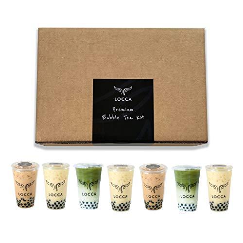 Ultimate Locca Premium Boba Tea Kit | 56+ Drinks | DIY Bubble Tea Kit | Party Size Tea Kit, 7 Flavors, Organic Loose Leaf Teas, Earl Grey Lavender, Peach Oolong, Hibiscus Rosehips, Ultimate Grade Matcha, Premium Loose Leaf Teas, Jasmine, Black and Thai Tea, 40 Straws, 2 Bags of Tapioca Pearls | Ultimate Edition