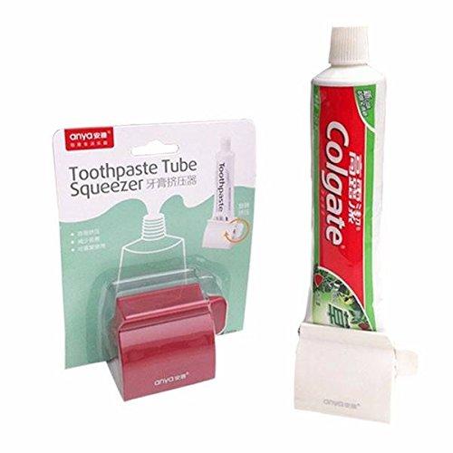 2個セットアヤABSクリエイティブバスケットの歯磨き粉チューブスクイーザー多機能チューブディスペンサー(白)