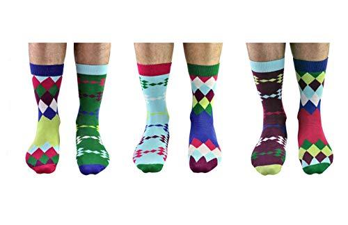 Die verrückten Fore Golf Socken für Männer im 6er Set