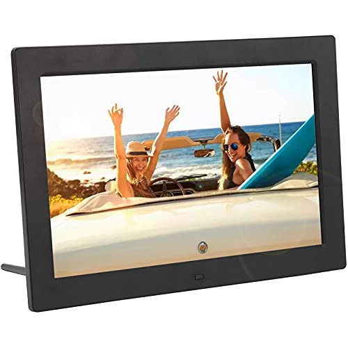 12inch Digital Photo Frame,Portable 1280x800 HD 220 cd/m² 16:9,MP3/MP4/Image Playback/Clock/Calendar,Digital Electronic Picture Album,with Remote Control,Gift for Child Friends Family(US)