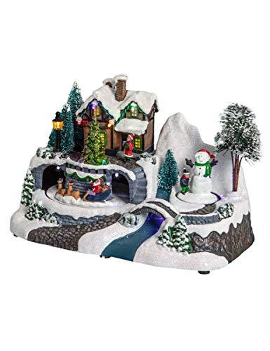 Villaggio di Natale luminoso Santa Louisa