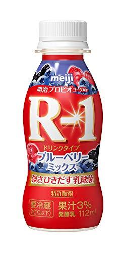 (クール便) 明治 ヨーグルト R-1 ドリンクタイプ ☆ブルーベリーミックス☆ ★112g×24本★