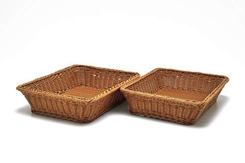 Tischkörbe, rechteckig, 40,6 x 30,5 x 8,9 cm, 2 Stück