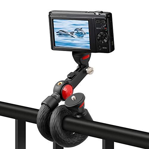 Fotopro Handy Stativ Flexibel GoPro Handgriff, Schwanenhals Selfie Stick Monopod Pole, Smartphone Stativ für Kamera GoPro Action Cam, mit Zwei 1/4 Universal-Gewindeanschluß