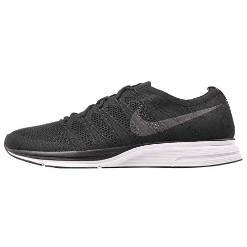 Nike Men's Flyknit Trainer Running Shoes Black/Black-White