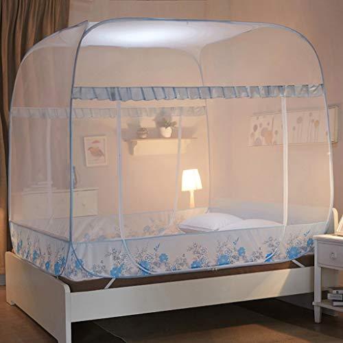 Doorzichtig mesh-dekbed Pop-up muggennet-luifel bedgordijn, dekbed, Yurt nettent, opvouwbaar muggennetbed, geschikt voor thuis, camping, outdoor tent