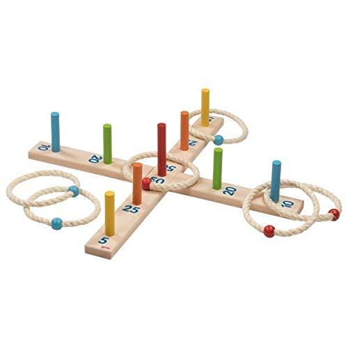 Ringwurfspiel mit 6 Sisalringen: Ø= 49 cm, Holz, per Stück