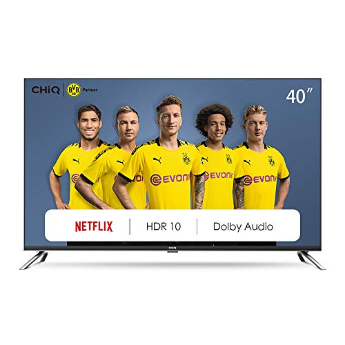 CHiQ L40H7N Smart TV 40 Zoll, Full HD,WiFi, Video,Bluetooth, YouTube, Netflix, Triple Tunner