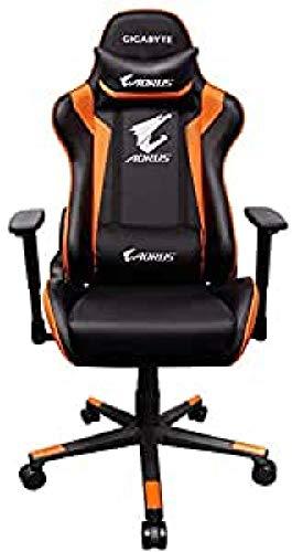 Gigabyte AGC300 V2 Aorus - Silla Gaming, 120 kg, asiento acolchado, respaldo acolchado, racing, negro y naranja