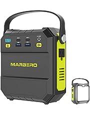 MARBERO ポータブル電源 M87 22500mAh/83.25Wh 小型 軽量家庭用蓄電池 PSE認証済み AC(80W 瞬間最大120W)/USB/Type-Cなど出力 急速充電QC3.0 三つの充電方法 超高輝度LEDライト付き 車中泊 キャンプ 釣り アウトドア 防災グッズ 地震 停電対策 エナーボックス 二年間保証