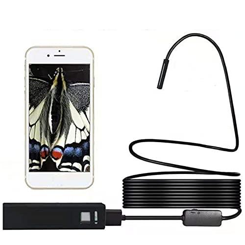 MH-RING WiFi Telecamera Endoscopica per Cellulare, Telecamera di Ispezione 2 Megapixel HD 8 mm Endoscopio Wireless Impermeabile per Android e iOS Smartphone, iPhone, Samsung, Tablet