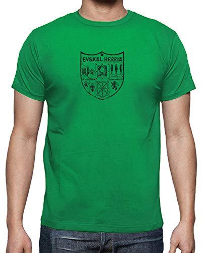 latostadora - Camiseta Zazpiak Bat Euskal para Hombre Verde Pradera M