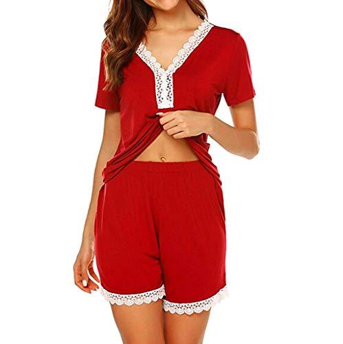 Vectry Pijama Mujer Invierno Pijamas De Mujer Sexy Conjunto De Pijama Mujer Camisones Sexys Mujer Ropa Interior Mujer Sexy Conjuntos Lenceria Mujer Sexy Tallas Grandes Pijamas Rojo