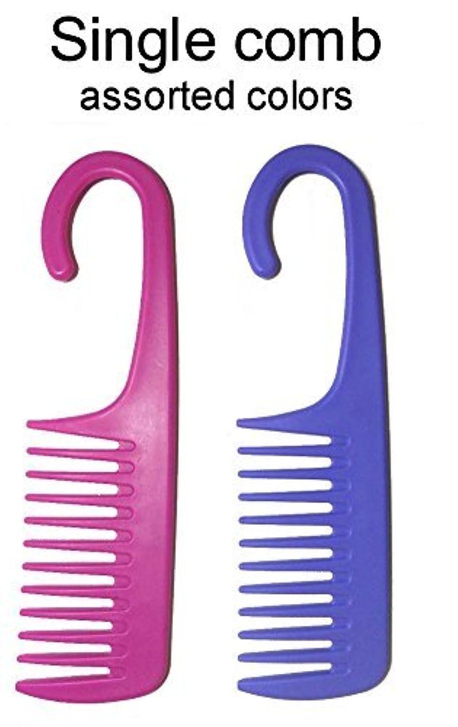 大差別珍しい1 Comb Exfoliage Hair Detangling/Conditioning Shower Wide Tooth with Hook for Hanging - COLORS MAY VARY [並行輸入品]