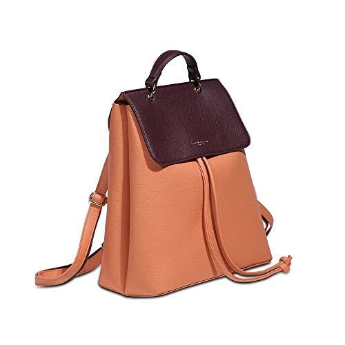 Zaino Fannie Rosa Pesca pelle trasformabile borsa donna 24x29x14.5 cm SNT002005605