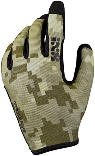 IXS Carve Gloves Camel Camo S Handschuhe, Erwachsene, Unisex, Blau