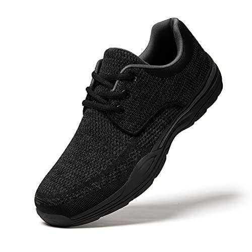 Uomo Scarpe da Ginnastica Sneakers Basse Scarpe Stringate Mocassini Scarpe Barca Casual Slip on Nero 43