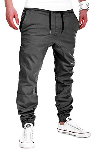 MYTRENDS Styles MT Styles Harem Jogger Chino-Hose C-60 [Dunkelgrau, W30]