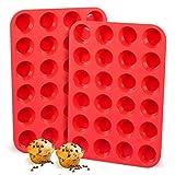 GCSEY 24 Coppe del Silicone Mini Muffin Pan Cupcake Tazze di Cottura Antiaderente Muffin Lattine Cubi di Ghiaccio del Vassoio del Sapone della Muffa Chocolate Candy Costruzione di Stampi 5 PCS